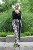 Bebe bag - Nasty Gal heels - Zara pants