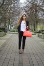 Black-zara-blazer-salmon-kate-spade-bag-white-sincerely-jules-t-shirt