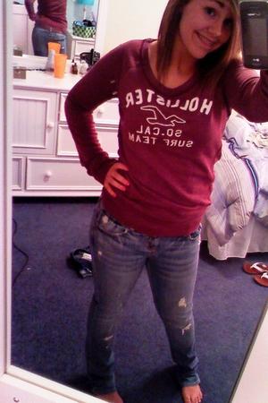 American Eagle jeans - hollister shirt