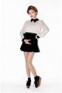 Black-nanda-girl-shoes-black-skirt-off-white-style-nanda-blouse