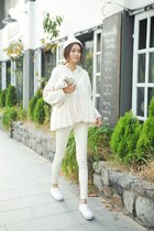 ivory sweater - off white pants