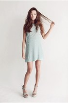 light blue Style Nanda dress - off white wedges