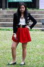 White-topshop-shirt-red-diy-skirt-black-from-hk-jacket-blue-zara-shoes-g