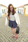 White-zara-blazer-navy-parfois-bag-navy-polka-dots-zara-shorts