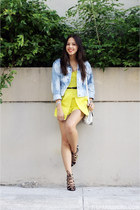 yellow Topshop romper - Gap jacket - white Alexander Wang bag - black Zara heels