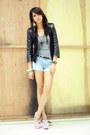 Turned-top-topshop-dress-coexist-jacket-denim-forever-21-shorts-h-m-belt-