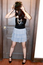 black American Apparel - gray skirt - black Charlotte Russe
