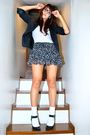 Black-blazer-white-randomly-bought-in-hong-kong-black-charlotte-russe-skirt-