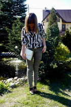 H&M shoes - vintage shirt - vintage bag - H&M pants