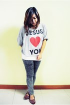 Forever 21 top - St Francis pants - Forever 21 intimate - Greenhills flats