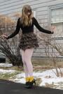 Black-f21-sweater-red-f21-skirt-gold-socks-black-h-m-shoes