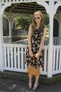 Orange-borrowed-from-mom-dress-white-f21-sunglasses-brown-consignment-purse-
