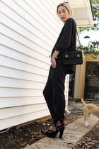 black Chanel bag - dark gray Dries Van Noten sweater