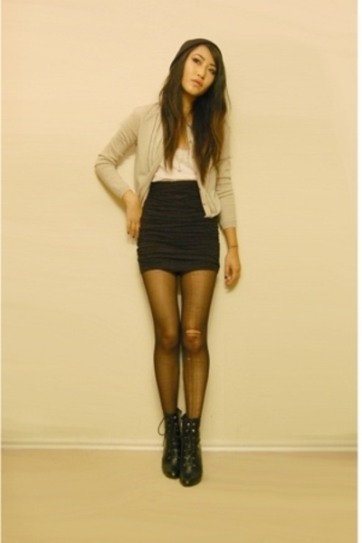 American Apparel skirt - fioni PAYLESS LOL shoes - American Apparel hat