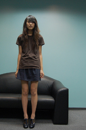 American Apparel t-shirt - Made skirt - Marc by Marc Jacobs shoes