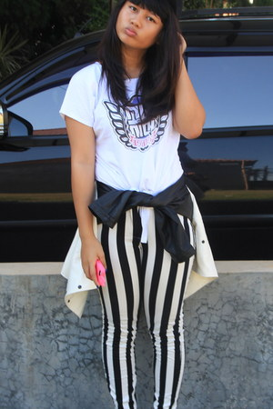 stripes Mango pants