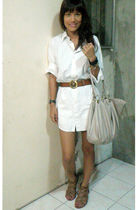 Ralph Lauren dress - vintage belt - random from HK shoes - from eastwood bazaar