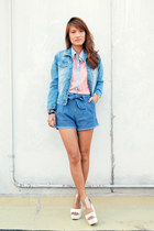 blue denim Next Jeans jacket - blue Next Jeans shorts