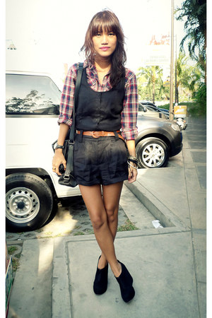 black fabmanilamultiplycom bag - black Chickflick wedges - black Penshoppe rompe