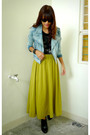 Sky-blue-from-hk-jacket-chartreuse-archive-clothing-skirt-black-h-m-boots
