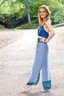 Blue-vintage-calvin-klein-top-sky-blue-anthropologie-skirt