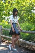 River Island skirt - H&M wedges