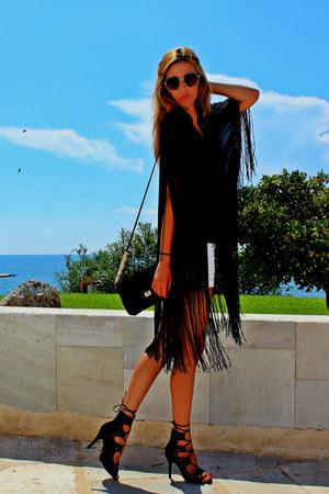 black Choies romper - black Choies heels