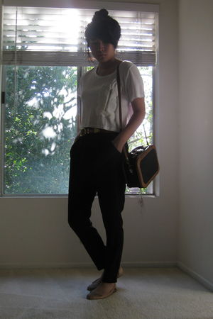 vintage bag - vintage belt - UO shoes