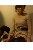 H&M sweater - Urban Outfitters belt - American Apparel tights - Urban Outfitters