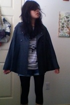 Urban Outfitters coat - H&M shirt - Urban Outfitters belt - Forever21 shorts - l