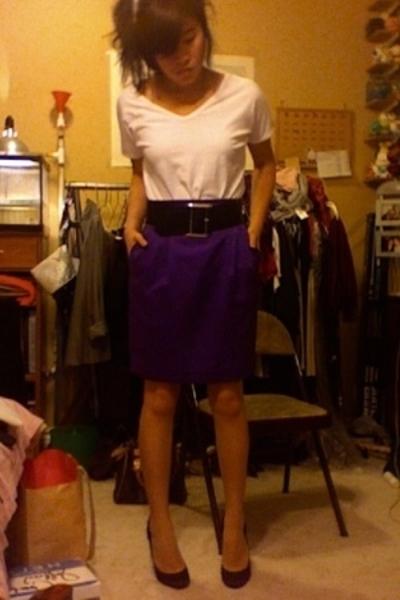 Marciano skirt - Express belt - Gap shirt - Betsey Johnson shoes