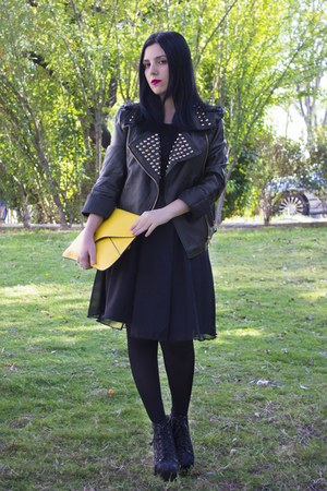 Sheinside jacket - BangGood dress - Sheinside bag