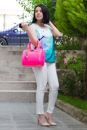 Rolmoda top - romwe leggings - pauls boutique bag