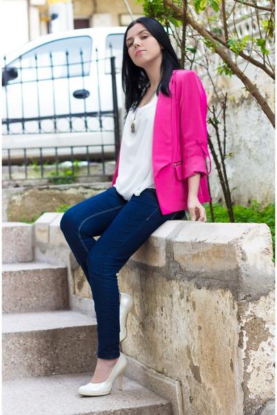Sheinside jeans - Sheinside blazer - Sheinside blouse