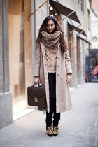 Aldo boots - vintage coat - Louis Vuitton bag - H&M pants - Zara blouse