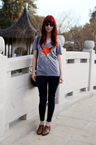 oxfords Nine West shoes - 535 legging Levis jeans - fox tee t-shirt