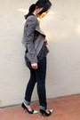 DIY heels - BCBGeneration dress - Joes Jeans jeans - BCBG jacket