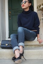 Jimmy Choo heels - Guess jeans - Macys sweater - Chanel bag