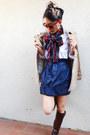 Nordstrom-scarf-ralph-lauren-shirt-bcbgeneration-skirt