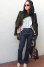 merona gloves - Diesel jeans - BCBGMAXAZRIA jacket - patterson j kincaid shirt