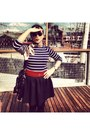 Ruby-red-h-m-belt-navy-striped-shirt-zara-shirt-black-h-m-skirt