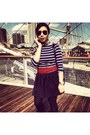 Navy-striped-shirt-zara-shirt-ruby-red-h-m-belt-black-h-m-skirt