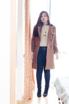 c&a coat - Forever 21 boots - Forever 21 sweater
