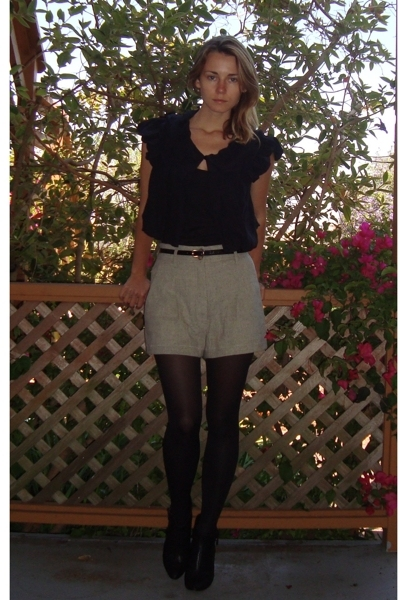 thrifted shorts - Belle by Sigerson Morrison shoes
