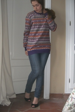 REPLAY sweater - H&M jeans - luccico shoes