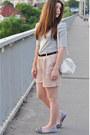 Silver-zara-shirt-off-white-mango-bag-neutral-bershka-shorts-black-h-m-bel