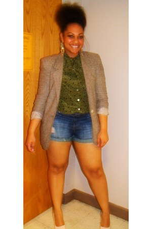 Salvation Army blazer - Charlotte Russe shorts - Charming Charlies earrings