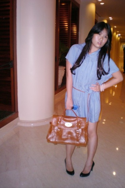 Zara dress - mulbrerry bag - Zara shoes