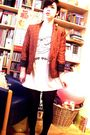 Orange-luella-blazer-white-h-m-t-shirt