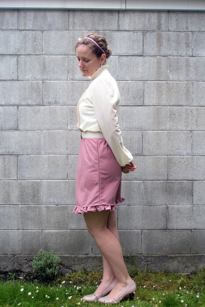 pink vintage from Trademe dress - pink No1 Shoes shoes - pink accessories - whit